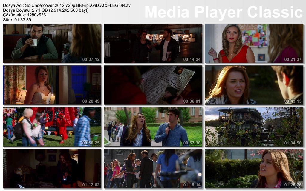 So Undercover - 2012 720p BRRip XviD AC3 - T�rk�e Altyaz�l� indir