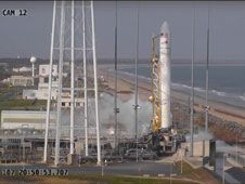 Wednesday&#39;s Antares launch attempt<br /> from the Mid-Atlantic Regional<br /> Spaceport Pad-0A at NASA&#39;s Wallops<br /> Flight Facility is scrubbed.<br /> Credit: NASA TV