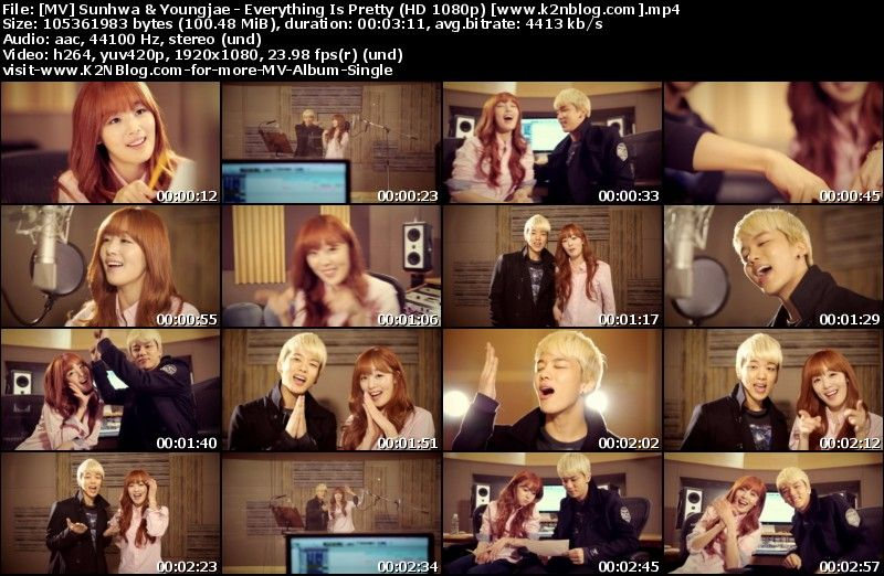 [MV] Sunhwa (SECRET) & Youngjae (B.A.P) - Everything Is Pretty [HD 1080p Youtube]