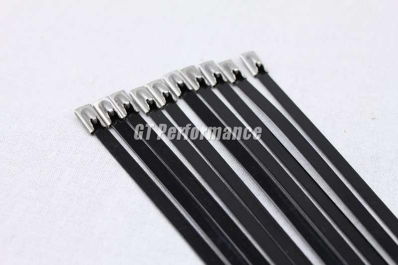 10 colliers noir 35cm inox pour bande thermique echappement isolant collecteur ebay. Black Bedroom Furniture Sets. Home Design Ideas